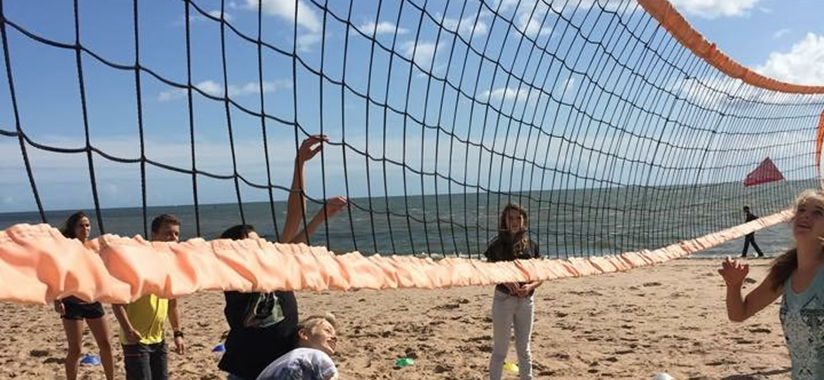 Volley Ball at Exmouth Beach