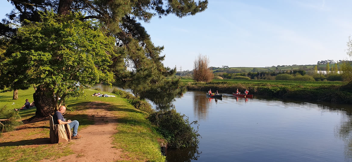 Calm Waters for Canoeing on the Exeter Canal