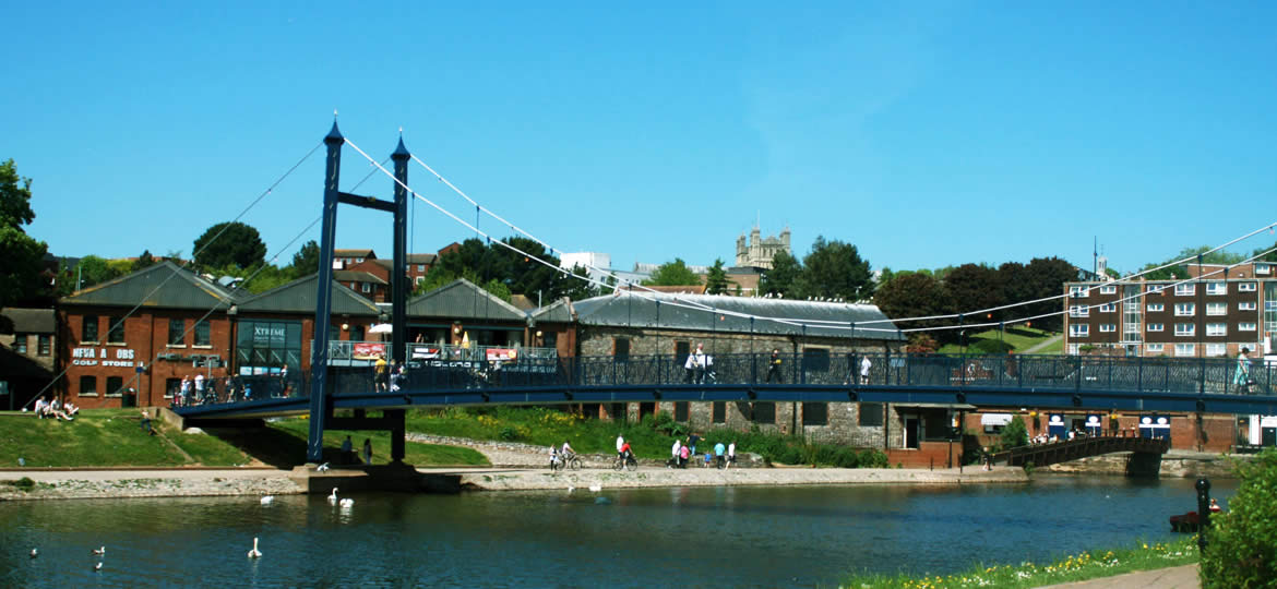 Exeter Quay's Bridge Over The River Exe