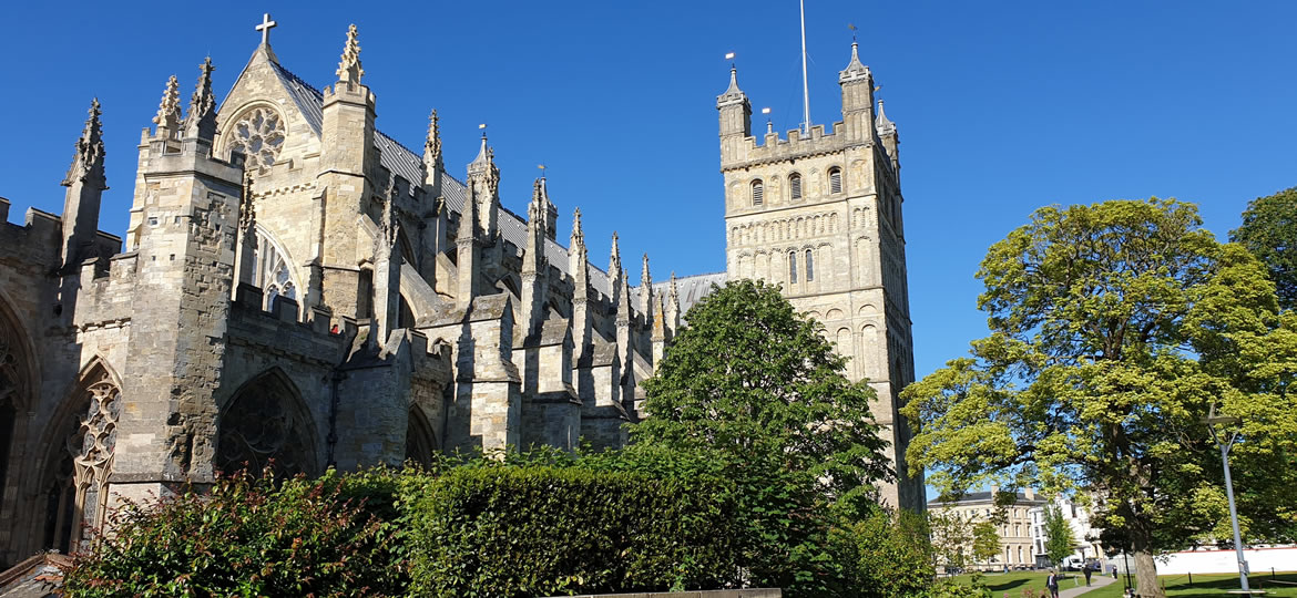 Exeter Cathedral Is Close To Our School